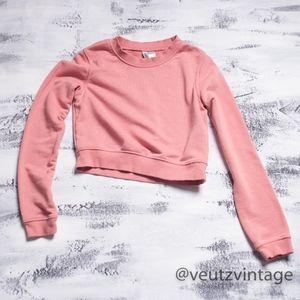 Divided H&M Cozy Cropped Sweatshirt - Women's XS